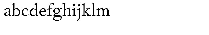 Fournier Regular Font LOWERCASE