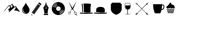 Fourth Extras Font LOWERCASE