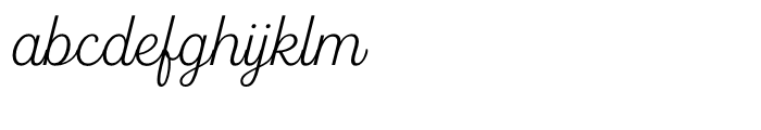 Fourth Thin Font LOWERCASE