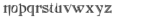 Foxcroft NF Shaded Font LOWERCASE