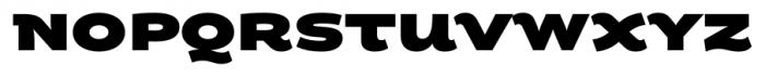 Fondue Heavy Font UPPERCASE