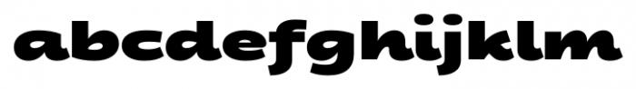 Fondue Heavy Font LOWERCASE
