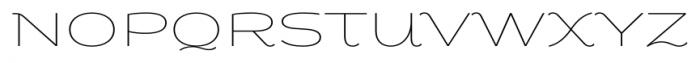 Fondue Thin Font UPPERCASE
