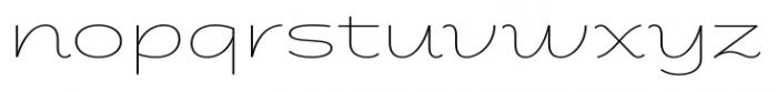 Fondue Thin Font LOWERCASE