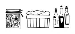 Food Doodles Too Regular Font UPPERCASE