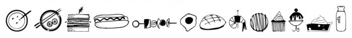 Food Doodles Too Regular Font LOWERCASE