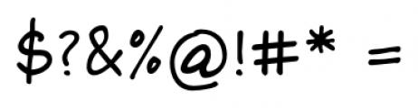Foster Handwriting Regular Font OTHER CHARS