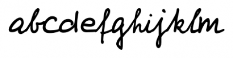 Foster Handwriting Regular Font LOWERCASE