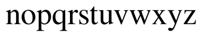 Foundation Roman Regular Font LOWERCASE