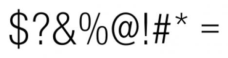 Foundation Sans Light Condensed Font OTHER CHARS