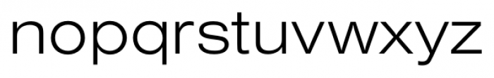 Foundation Sans Light Extended Font LOWERCASE