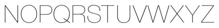 Foundation Sans Ultra Light Font UPPERCASE