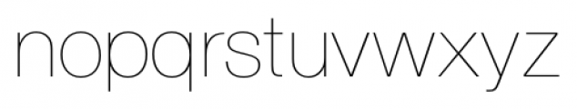 Foundation Sans Ultra Light Font LOWERCASE