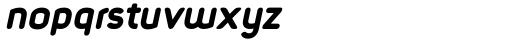 Foda Sans Black Italic Rnd Font LOWERCASE