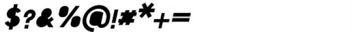 Foda Sans Black Italic Solid Font OTHER CHARS