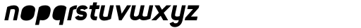 Foda Sans Black Italic Solid Font LOWERCASE