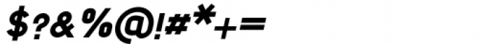 Foda Sans Black Italic Font OTHER CHARS