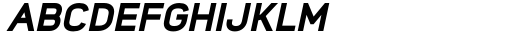 Foda Sans Black Italic Font UPPERCASE