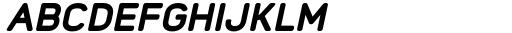 Foda Sans Black Oblique CRV Font UPPERCASE