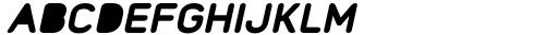 Foda Sans Black Oblique Rnd Solid Font UPPERCASE