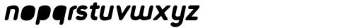 Foda Sans Black Oblique Rnd Solid Font LOWERCASE