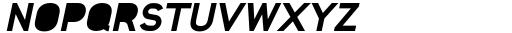 Foda Sans Black Oblique Solid Font UPPERCASE