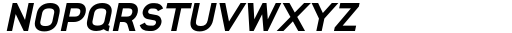 Foda Sans Black Oblique Font UPPERCASE