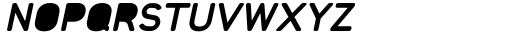 Foda Sans Extra Bold Italic Crv Solid Font UPPERCASE
