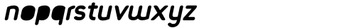 Foda Sans Extra Bold Italic Rnd Solid Font LOWERCASE