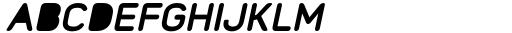 Foda Sans Extra Bold Oblique Rnd Solid Font UPPERCASE
