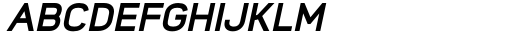 Foda Sans Extra Bold Oblique Font UPPERCASE