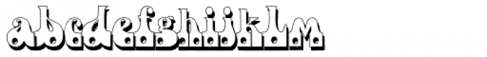 Fofucha1 Shadow Font LOWERCASE