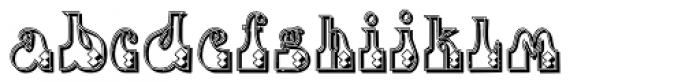 Fofucha2 Shadow Font LOWERCASE