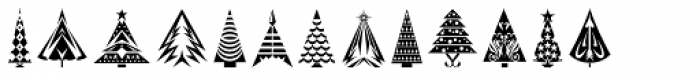 Fontazia Christmas Tree 2 Font UPPERCASE