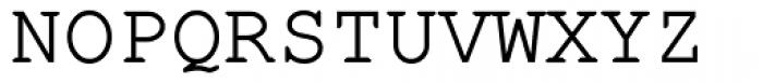 Fontcraft Courier Demi Bold Font UPPERCASE