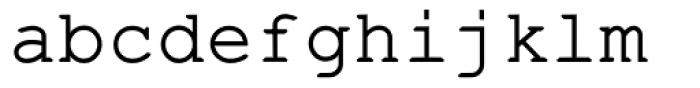 Fontcraft Courier Demi Bold Font LOWERCASE