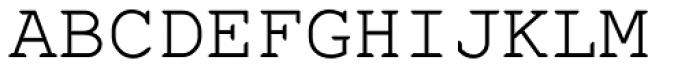 Fontcraft Courier Font UPPERCASE