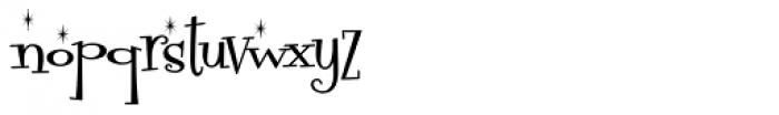 Fontdinerdotcom Sparkly Font LOWERCASE