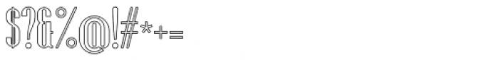 Fontuna News Outline Font OTHER CHARS