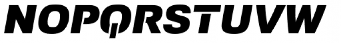 Foobar Pro Black Oblique Font UPPERCASE