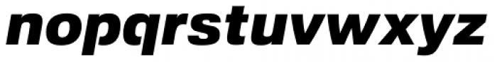 Foobar Pro Black Oblique Font LOWERCASE
