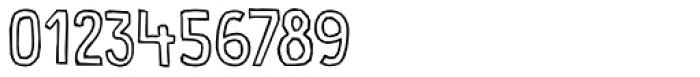 Food Truck Outline Regular Font OTHER CHARS