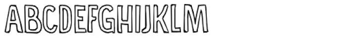 Food Truck Outline Regular Font UPPERCASE