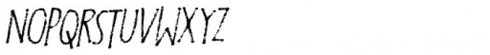 Foolish People Italic Font UPPERCASE