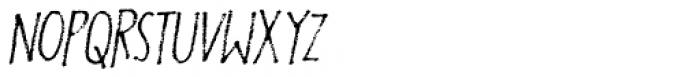 Foolish People Italic Font LOWERCASE