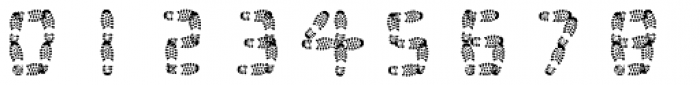 Foot Print Font OTHER CHARS