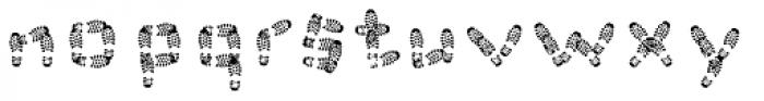 Foot Print Font LOWERCASE