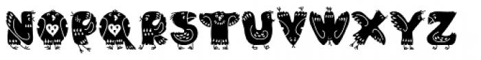 Foppish Birdie Font UPPERCASE