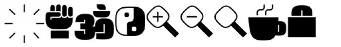 Force Dingbats Font UPPERCASE
