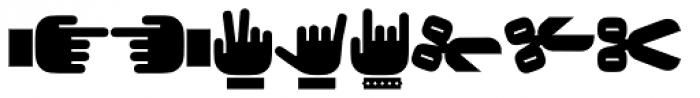 Force Dingbats Font LOWERCASE